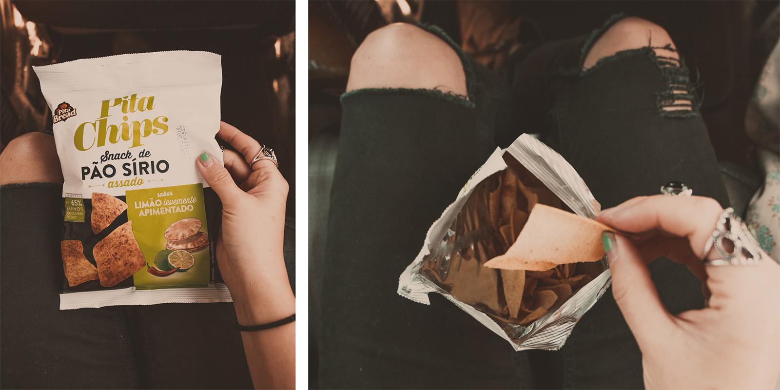 pita chips pão sírio limão