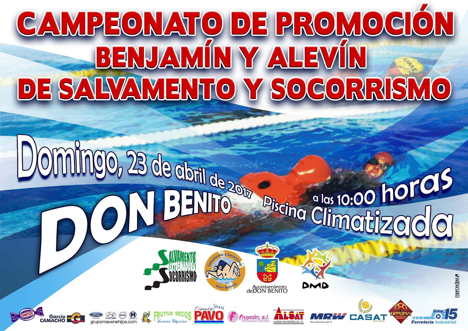 Club salvamento y socorrismo don benito campeonato de for Piscina climatizada merida