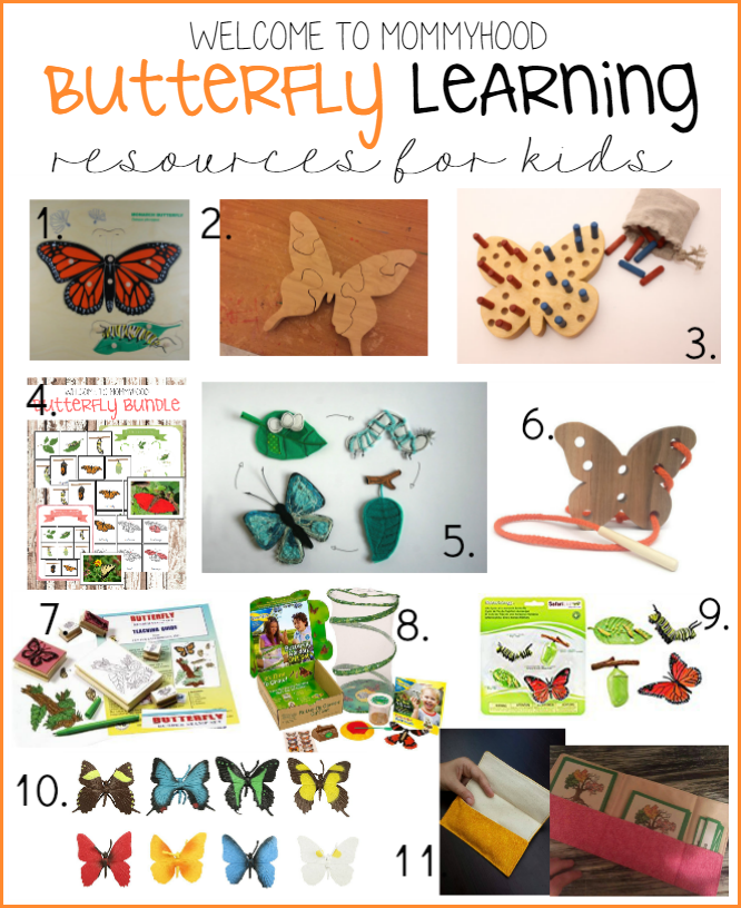 Butterfly learning resources by Welcome to Mommyhood #springactivities, #montessori, #learningresources, #earlylearning, #montessoriactivities