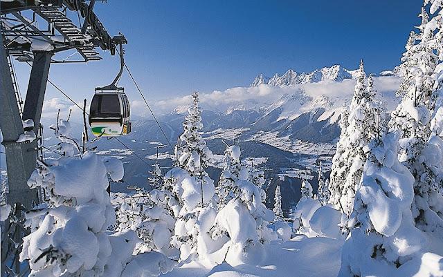 Cidades com neve na Áustria