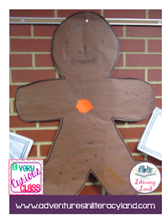 Students worked in groups to create their own gingerbread character and story elements to accompany it.