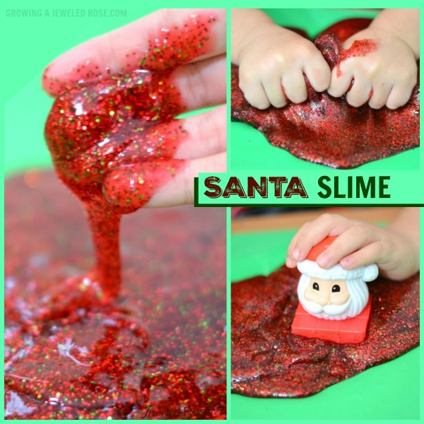 SANTA SLIME- so fun for kids & smells just like Christmas!