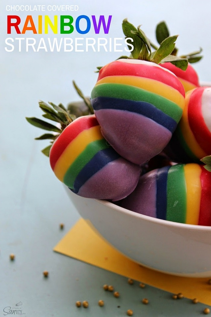 Chocolate Covered Rainbow Strawberries