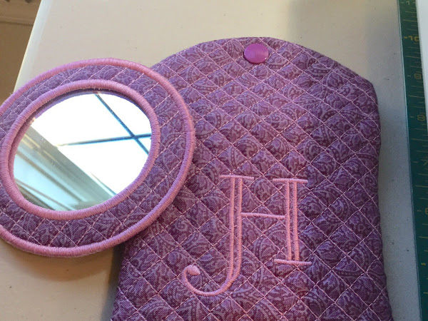Quilted Monogram Mirror Set