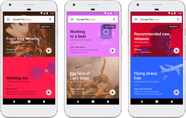 Google Play Music gets new update with a fresh new look