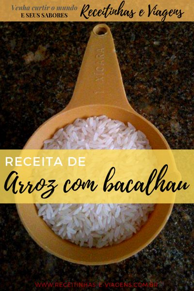 Receita de arroz com bacalhau