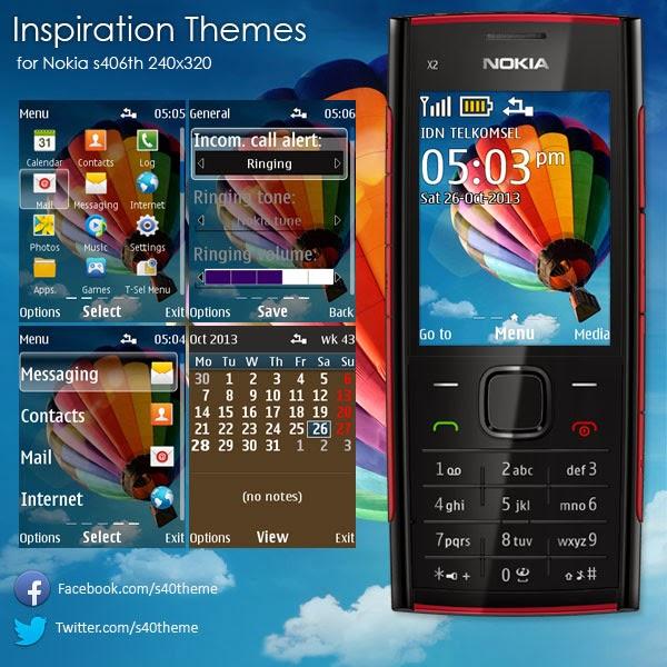 Inspiration Themes Nokia X2-00