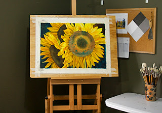 Sunflowers full Sheet Watercolor Painting Update 6