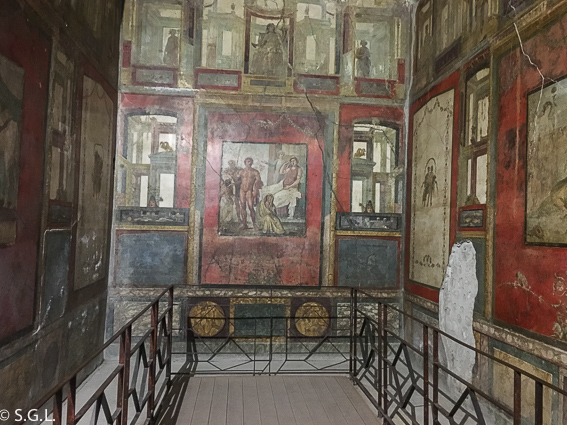 Casa de los Vettii  en Pompeya, las ruinas de la ciudad romana