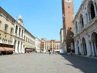 The Piazza dei Signori in Vicenza, the city where Prospero Alpini was born in 1553