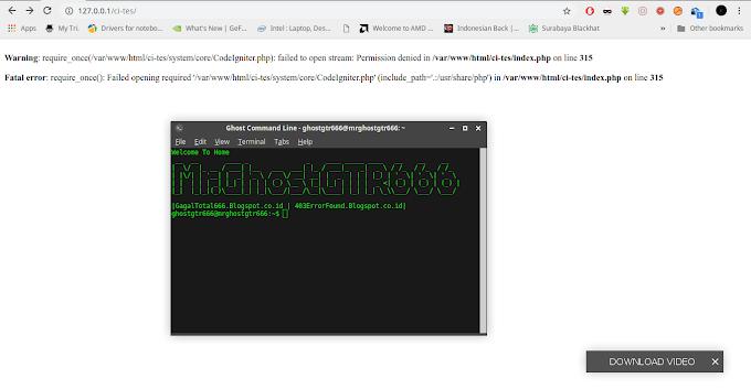 Mengatasi Fatal error: require_once(): Failed CodeIgniter dengan webserver Apache di GNU/Linux