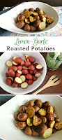 Crispy lemon garlic roasted tomatoes. Perfect potato side dish #potatoes #roastedpotatoes
