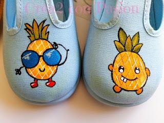 Zapatillas-niño-infantiles-decoradas-con-piñas-kawaii-crea2conpasión