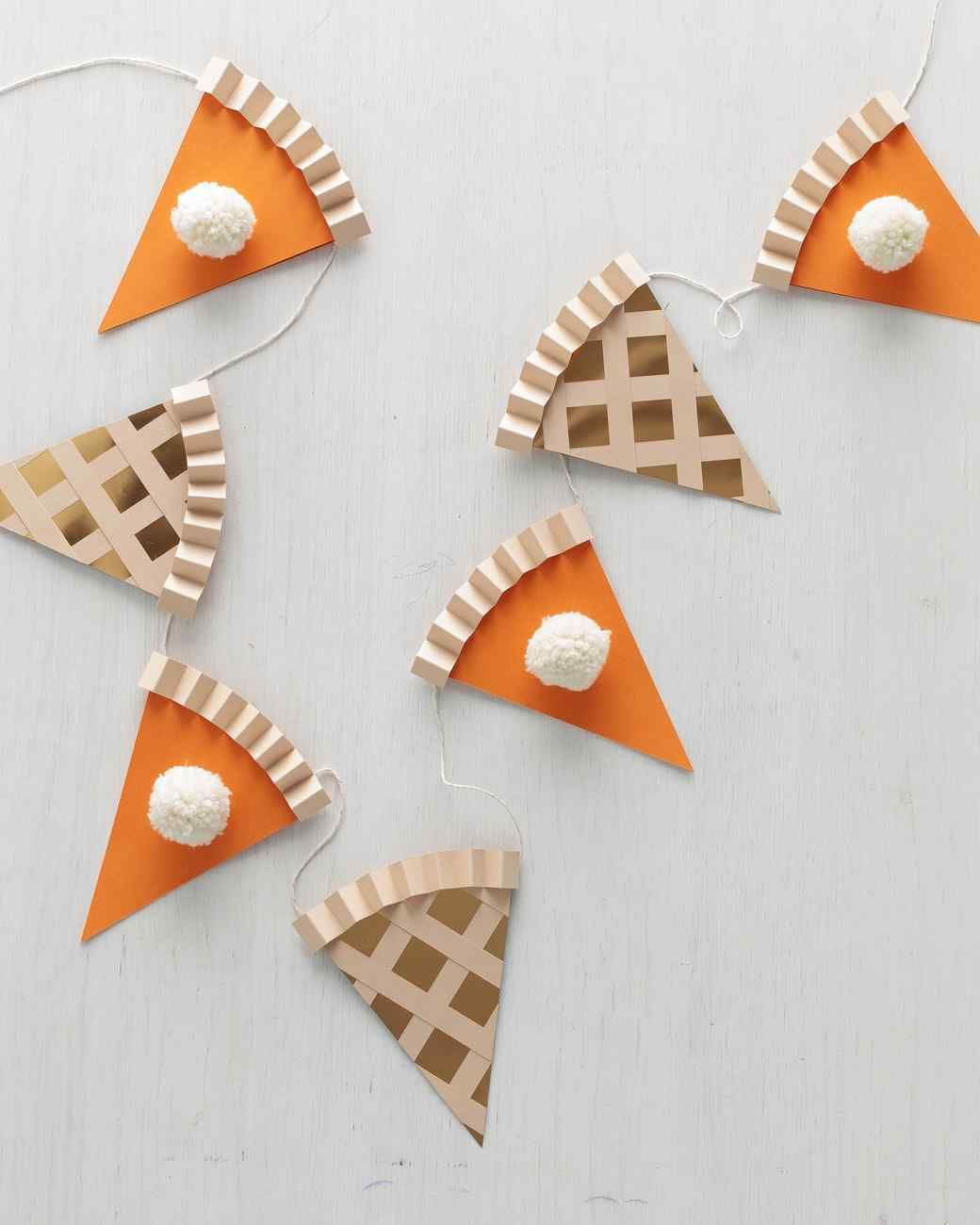 diy guirnalda pastel de calabaza para decorar acción de gracias o thanksgiving fácil y económico