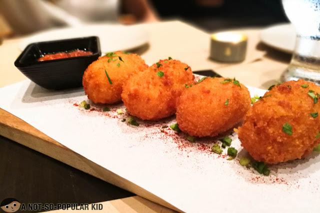 Croquetes de Quezo of Trufa Pasta Bar