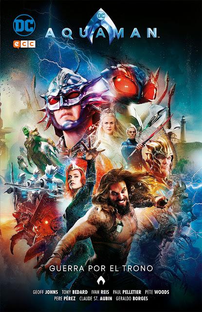 """Reseña de """"Aquaman: Guerra por el Trono"""" de Geoff Johns y Tony Bedard - ECC Ediciones"""