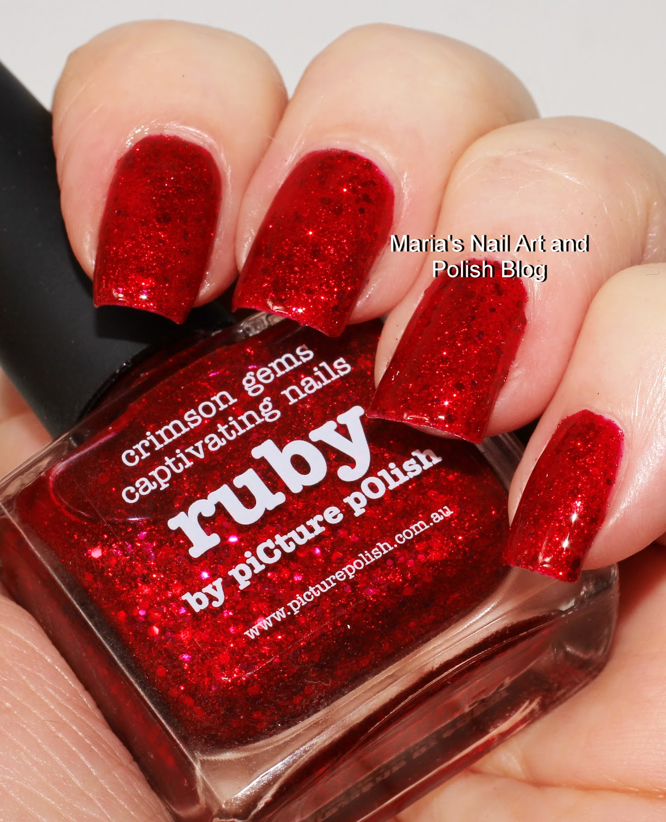Marias Nail Art And Polish Blog Flushed With Stripes And: Marias Nail Art And Polish Blog: Picture Polish Ruby Swatches