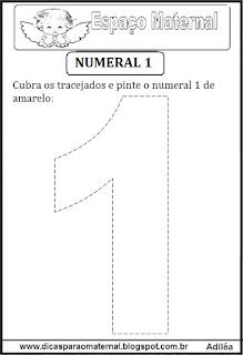 Numeral 1 pontilhado