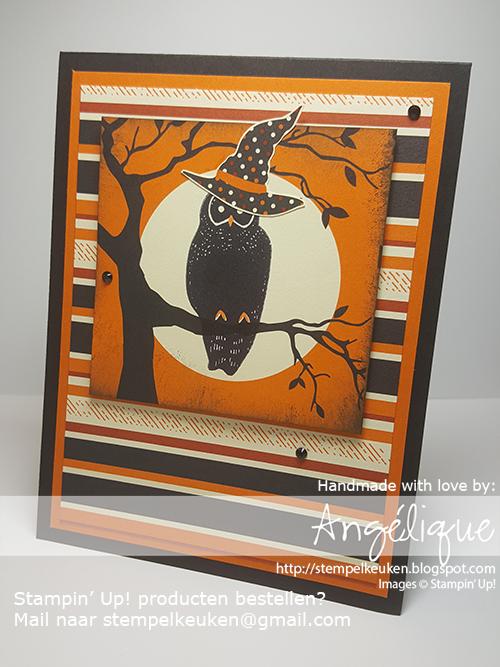 Stampin' Up! producten bestel je bij de Stempelkeuken stempelkeuken@gmail.com #stempelkeuken #stampinup #stampinupnl #halloween #halloween2017 #spookynight #spookycat #catpunch #owl #owloween #black #pumpkinpie #diy #handmade #dsp #cardstock #cardmaking #papercraft #papercrafting #denhaag #thehague #delft #scheveningen #zuidholland #creatief #kreativ #creative