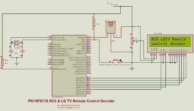 rc5 lgtv remote control decoder pic16f877a mikroc code
