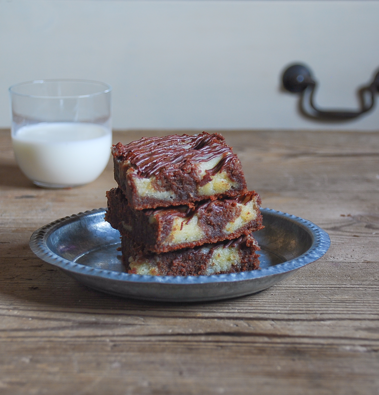 Brownie marmolado {sin gluten}