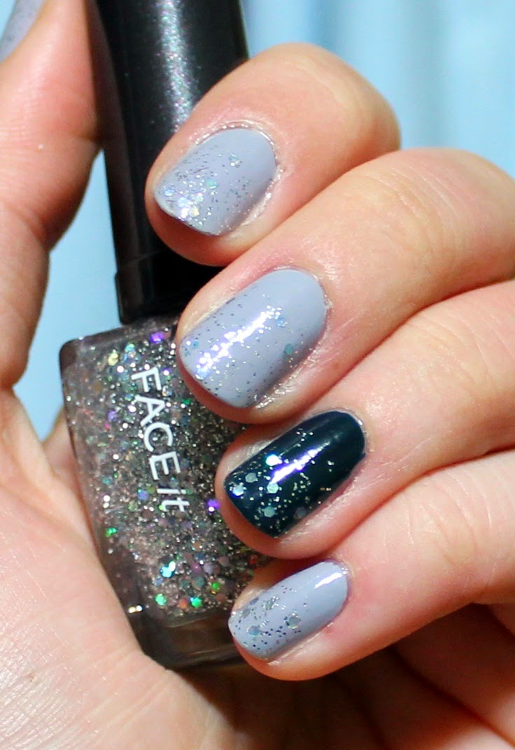 Great nails for a little winter sparkle