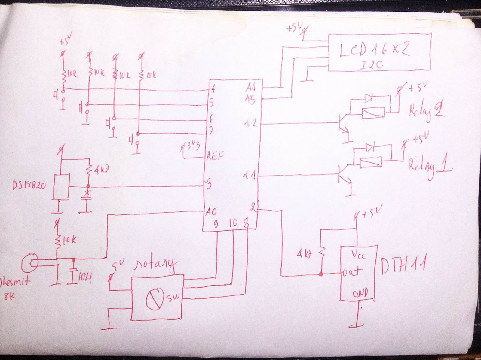 Arduino Viet Nam: Menu LCD with DHT11-thesmit-DS18B20