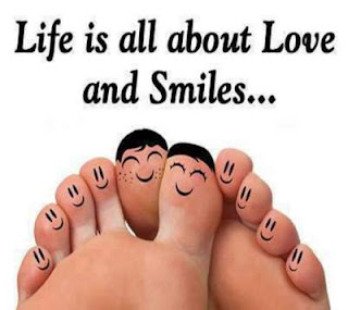 cute smile faces on feet fingers