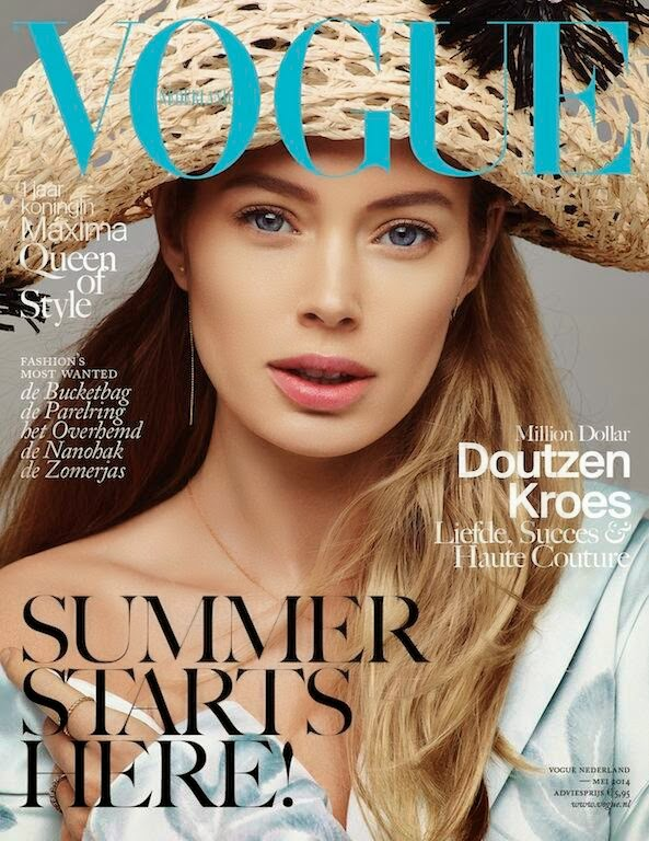 Doutzen Kroes heads into summer with a Vogue Netherlands May 2014 cover