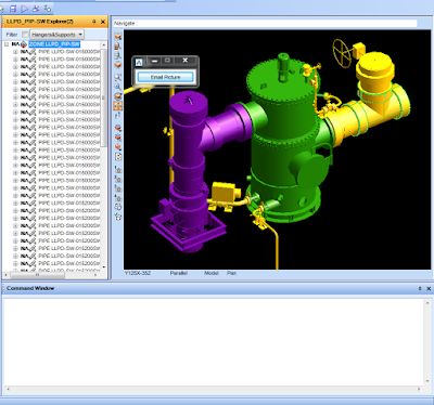 PML Email Graphical View Directly from PDMS Macro