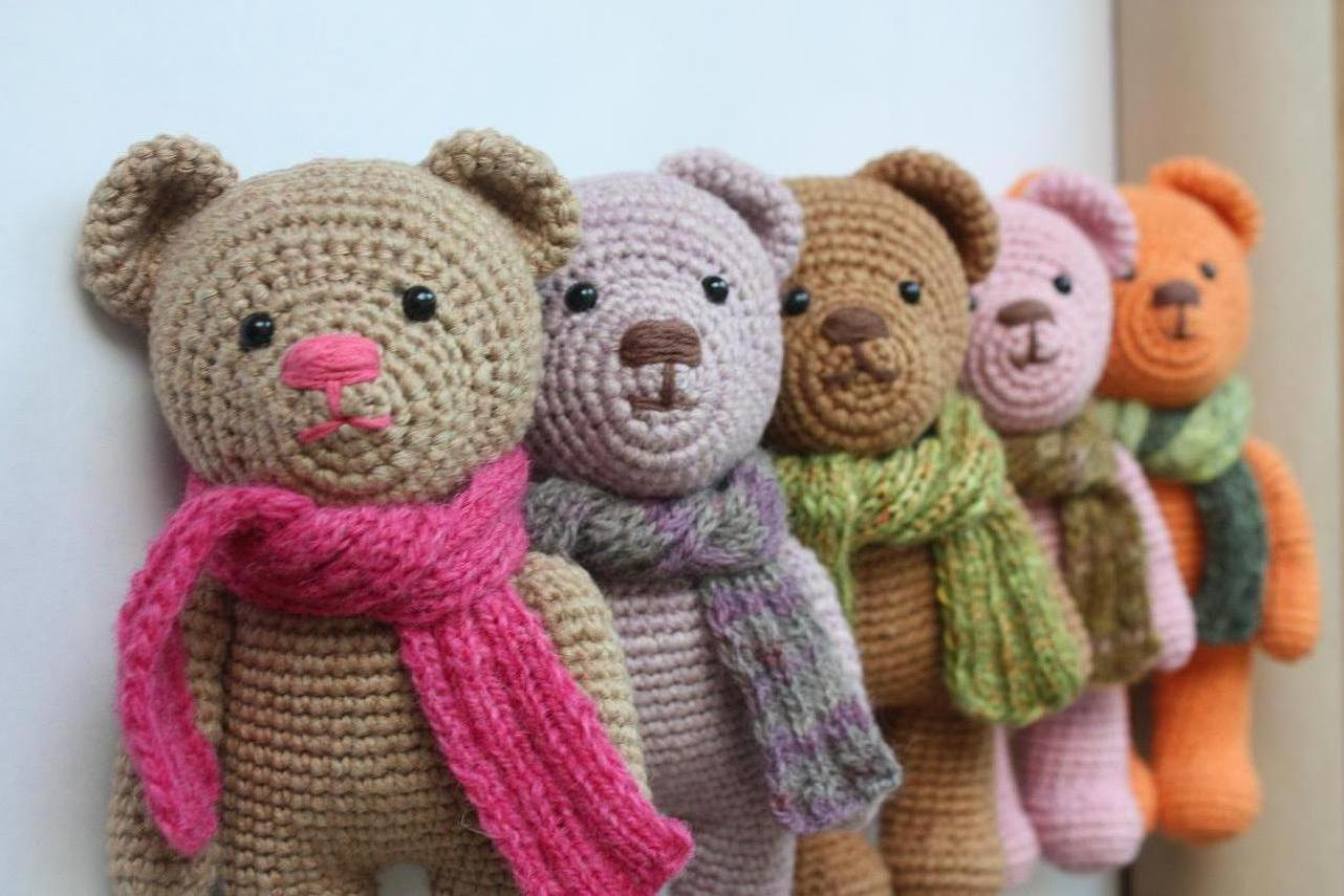 Amigurumi Free Patterns Bear : 70 crochet teddy bear patterns the funky stitch