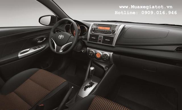 gia xe toyota yaris 2017 8 - Giá xe Toyota Yaris 2017 khuyến mãi hấp dẫn tại Tp. HCM - Muaxegiatot.vn