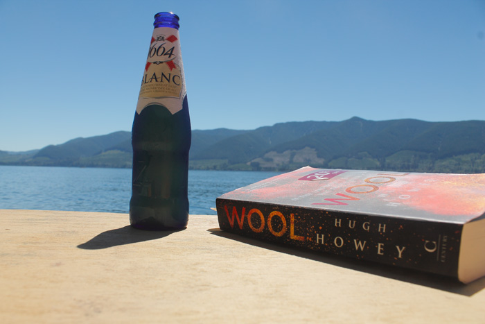 cold beer, book, and a view of cowichan lake