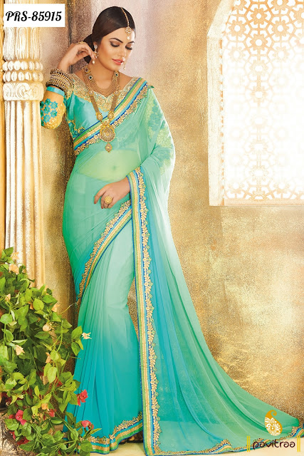 Stylish Indian Diwali Festival Special Party Wear Sarees Online Shopping