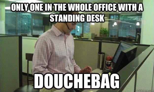 You Magnificent Bastards: Another Stolen Idea--Standing Desk!