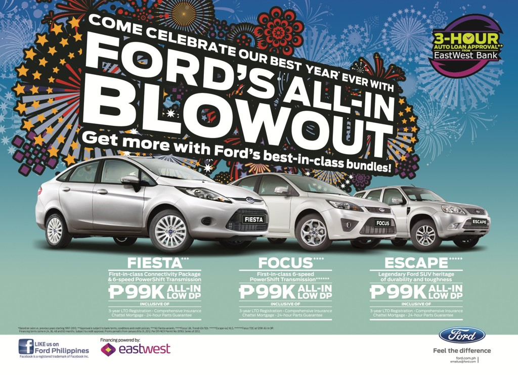 ford kicks off 2012 with all in blowout promo philippine car news car reviews automotive. Black Bedroom Furniture Sets. Home Design Ideas