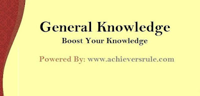 General Knowledge MCQ For SSC CGL-Set 7