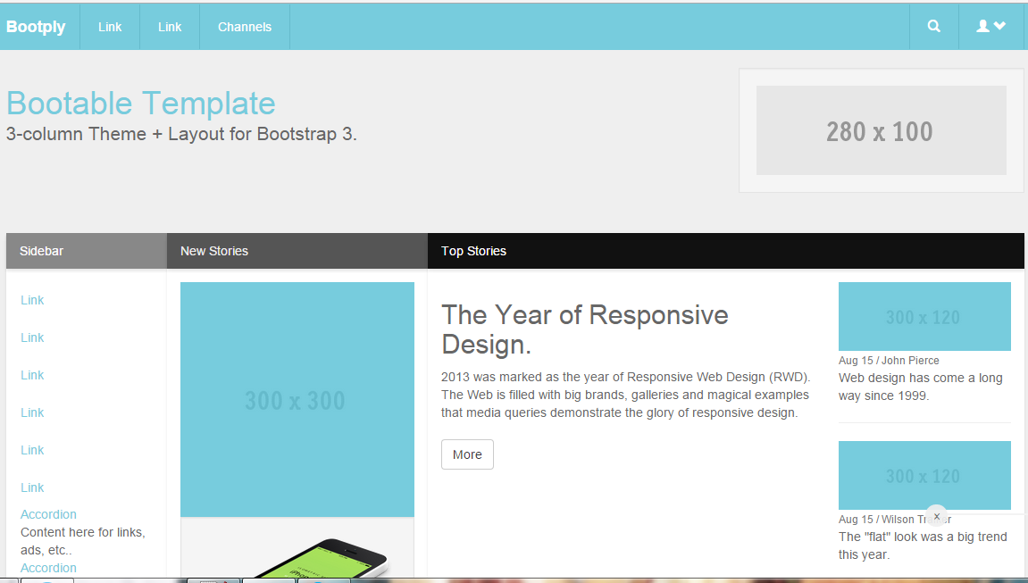 Free Bootstrap Right Sidebar Templates - TechFolks net