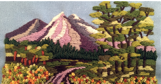 "MooshieStitch Monday: ""Mountain Road"" Vintage Embroidery Kit"