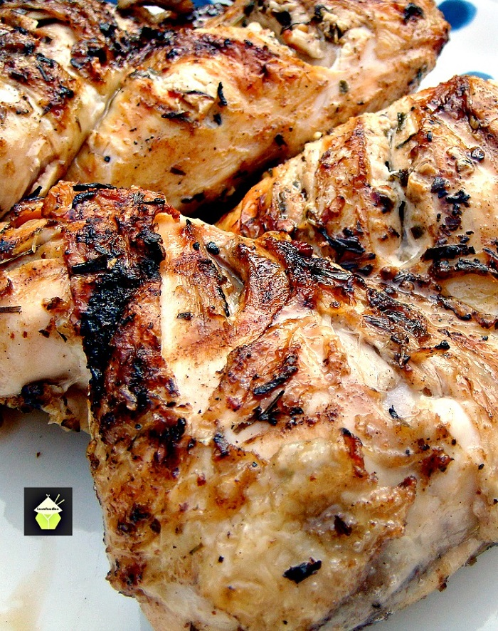 Flattened Moist BBQ Garlic and Lemon Chicken