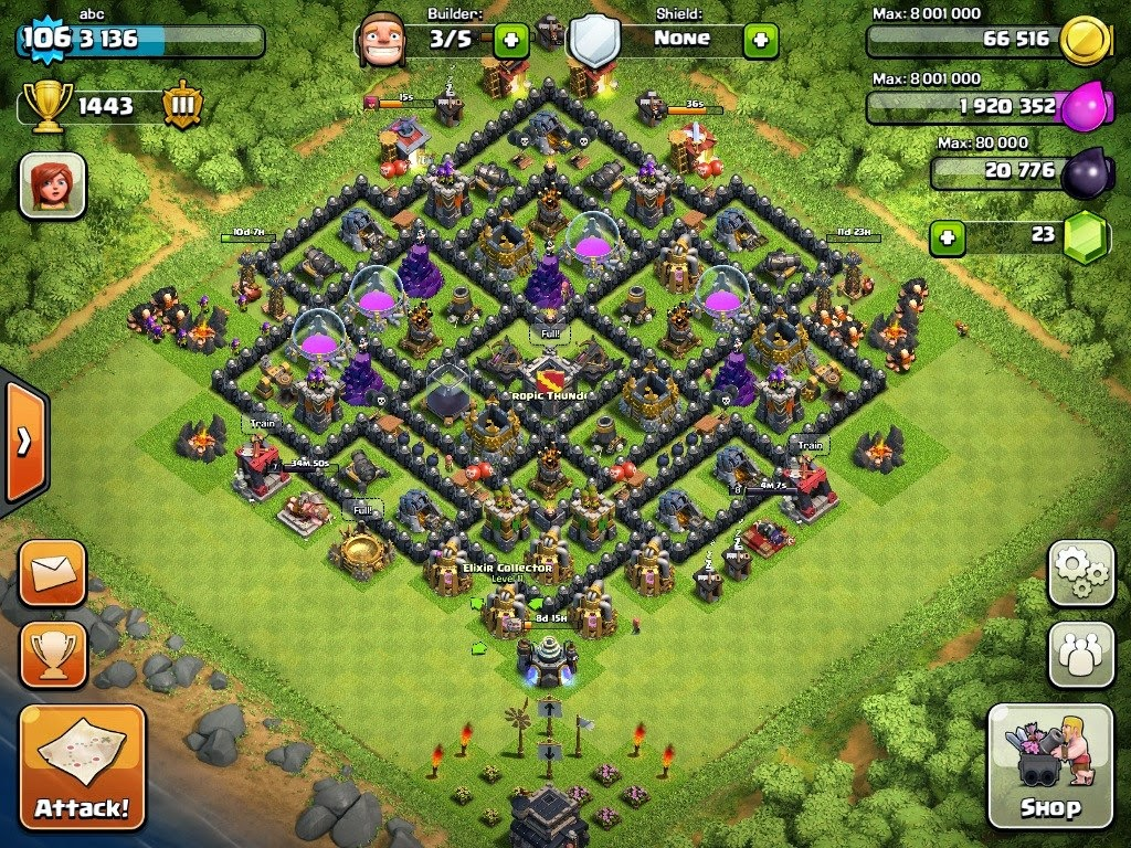 Clash Of Clans Wn Hall Level
