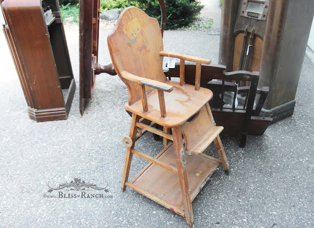 Auction Vintage Highchair, Bliss-Ranch.com