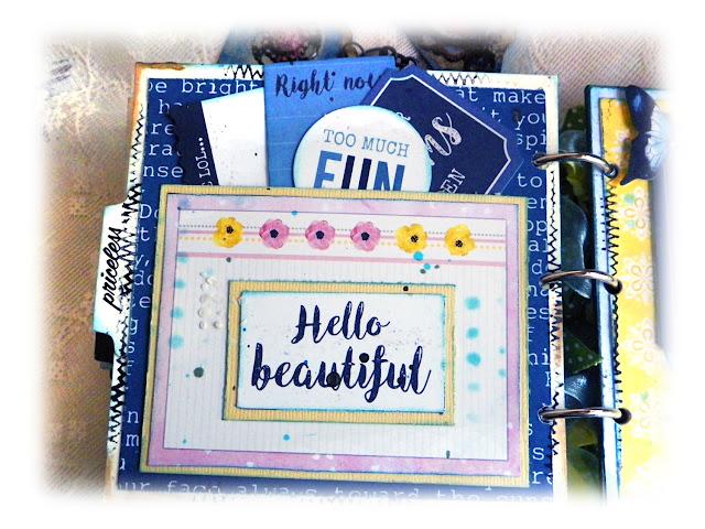 Happy Mini Album by Lisa Novogrodski for Scraps of Darkness using the April Kit Blue Skies and Sunshine