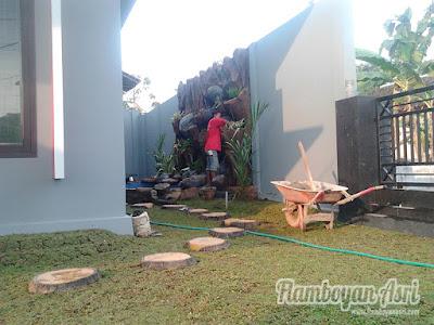 Tukang Taman Surabaya Gambar Relief Tebing Depan Rumah