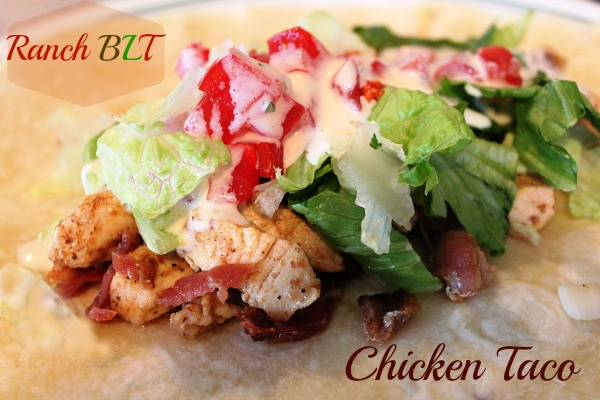 Ranch BLT Chicken Taco
