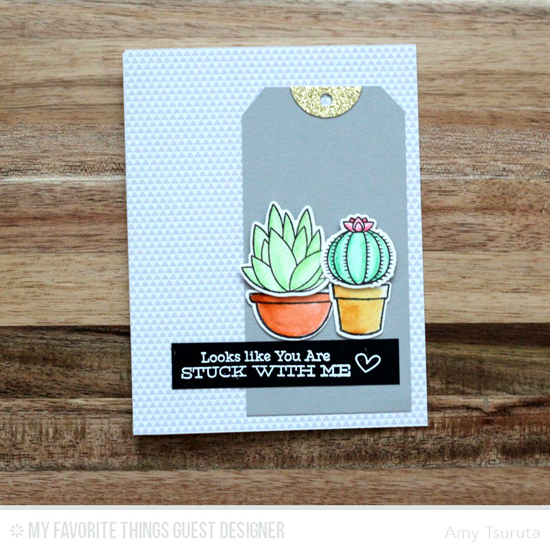 Stuck With Me Card by Amy Tsuruta featuring the Laina Lamb Design Sweet Succulents stamp set and Die-namics #mftstamps