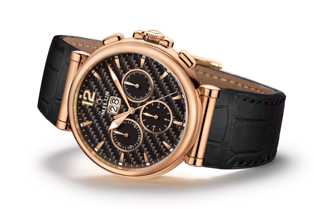 Milus Zetios Chronograph Automatic Watch gold
