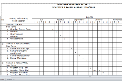 Download Program Semester Kurikulum 2013 Kelas 1 Sd Sekolahdasar Net