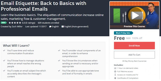 [100% Off] Email Etiquette: Back to Basics with Professional Emails| Worth 20$