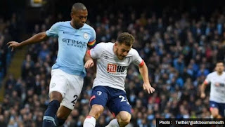 Manchester City vs AFC Bournemouth 3-1 Highlights
